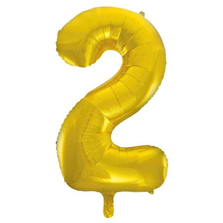 Gigantic Gold Foil Number Balloons 34 Inches I Number Two Balloon I My Dream Party Shop UK