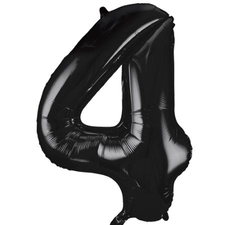 Gigantic Black Foil Number 4 Balloon 34 Inches I Party Balloons I My Dream Party Shop UK