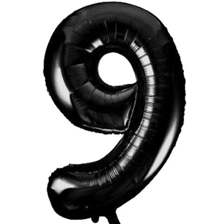 Gigantic Black Foil Number 9 Balloon 34 Inches I Party Balloons I My Dream Party Shop UK