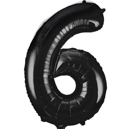 Gigantic Black Foil Number 6 Balloon 34 Inches I Party Balloons I My Dream Party Shop UK
