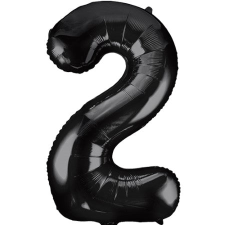 Gigantic Black Foil Number 2 Balloon 34 Inches I Party Balloons I My Dream Party Shop UK