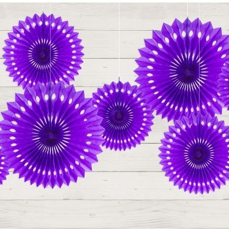 Violet Rosette Fans I Modern Party Decorations I My Dream Party Shop UK