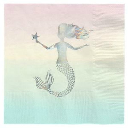We Heart Mermaids Napkins I Talking Tables I Mermaid Party Tableware & Decorations I My Dream Party Shop  I UK