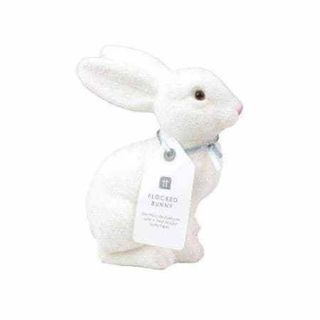 Flocked White Easter Bunny Decoration I Easter Party Decorations I My Dream Party Shop UK