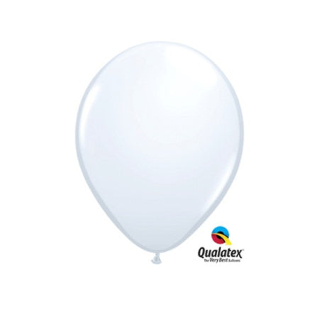 White 5 Inch Balloons by Qualatex I Pretty Party Balloons I UK