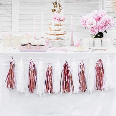 White Tassel Garland I Stunning White Decorations UK