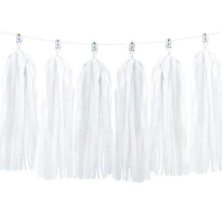 White Tassel Garland I Stunning White Decorations or Balloon Tails UK