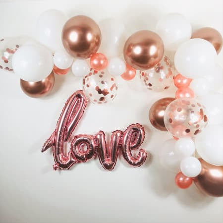 Rose Gold and White Balloon Garland Kit I Balloon Clouds I My Dream Party Shop UK