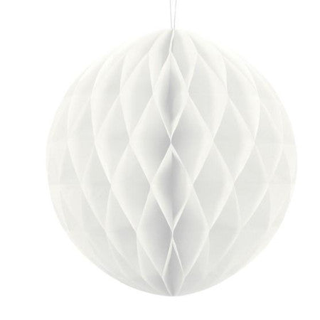 White Honeycomb Ball 30 cm I White Party Decorations I My Dream Party Shop UK