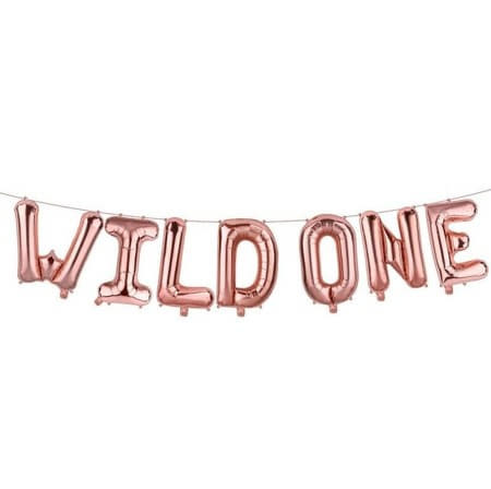 Rose Gold Wild One Balloon Bunting I 1st Birthday Party Balloons I UK