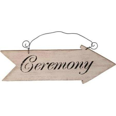 Rustic Vintage Retro Wooden Wedding Ceremony Arrow Sign My Dream Party Shop