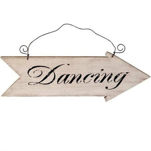 Rustic Vintage Retro Wooden Dancing Wedding or Party Arrow Sign My Dream Party Shop