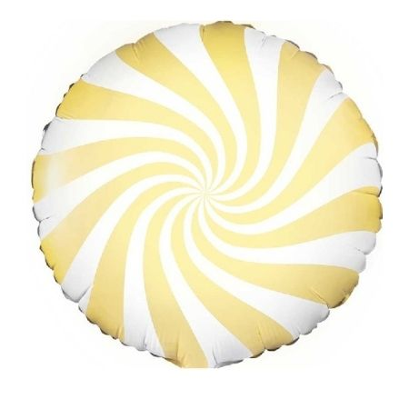 Yellow Swirl Foil Balloon I Pastel Balloons I My Dream Party Shop UK