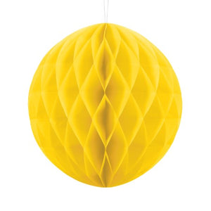 Yellow Tissue Honeycomb Ball Party Decoration I My Dream Party Shop I UK