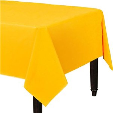 Yellow Plastic Rectangular Tablecover I Party Tableware I My Dream Party Shop I UK