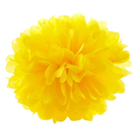 Small Bright Yellow Tissue Pom Pom Party Decoration I Pretty Party Decorations I My Dream Party Shop I UK