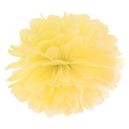 Large Lemon Pom Pom Decoration I Tissue Pom Poms I My Dream Party Shop I UK