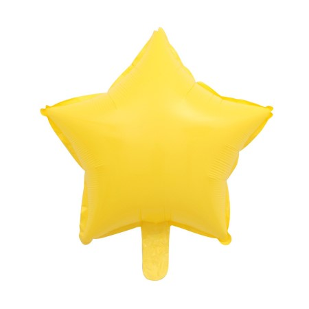 Yellow Star Shaped Foil Balloon I My Dream Party Shop I UK