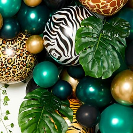 Metallic Zebra Print Orbz Balloon I Jungle Party I My Dream Party Shop UK