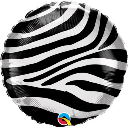 Metallic Zebra Print Balloon 18 Inches I Jungle Balloons I My Dream Party Shop
