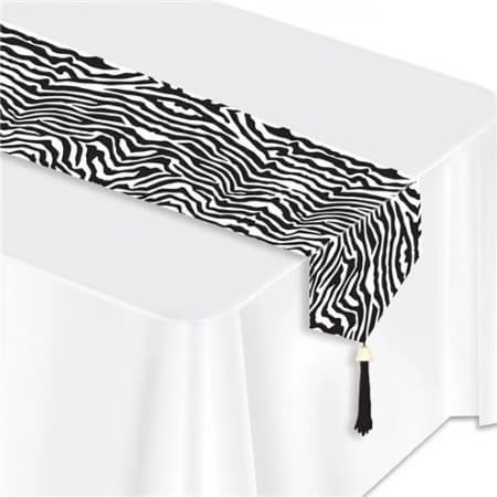 Zebra Print Table Runner I Jungle Party Supplies I UK