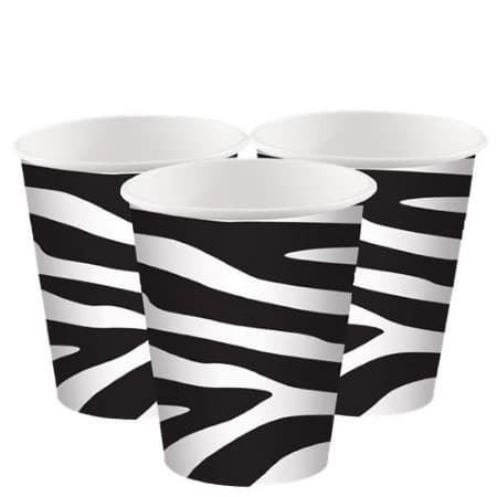 Zebra Print Cups I Jungle Party Supplies I My Dream Party Shop UK