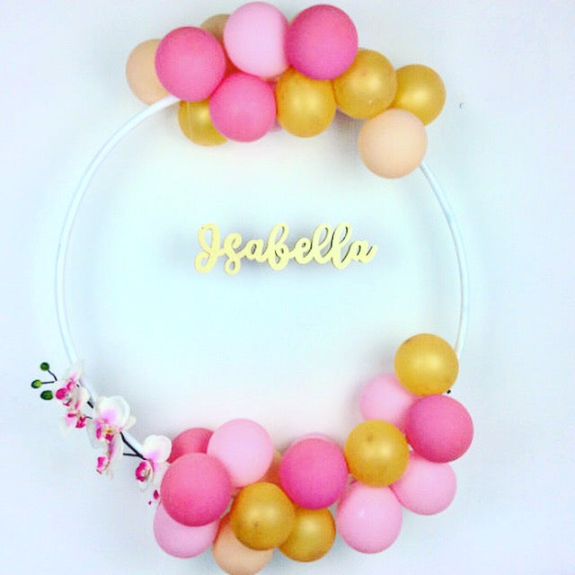 Bespoke Balloon Hoop Name Decoration Kit I Bespoke Birthday Decorations I My Dream Party Shop I UK
