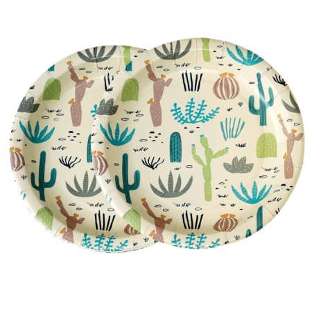Desert in Bloom Plates I Modern Cowboy Party I My Dream Party Shop UK
