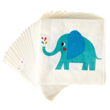 Elvis the Elephant Napkins I Modern First Birthday Tableware I My Dream Party Shop
