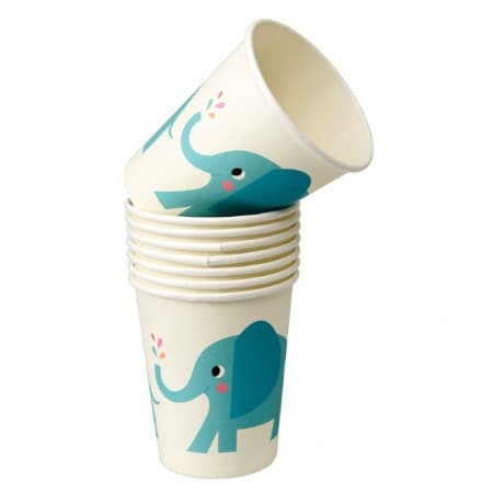 Elvis the Elephant Cups I Modern First Birthday Party I My Dream Party Shop UK