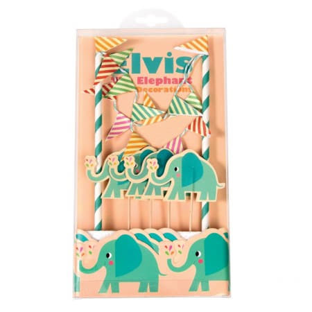 Elvis the Elephant Cake Topper I Candle and Cake Accessories I My  Party I My Dream Party Shop UK