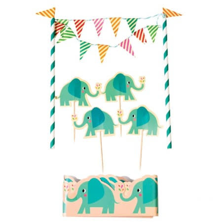 Elvis the Elephant Cake Topper I Modern Cake Accessories I My Party I My Dream Party Shop UK