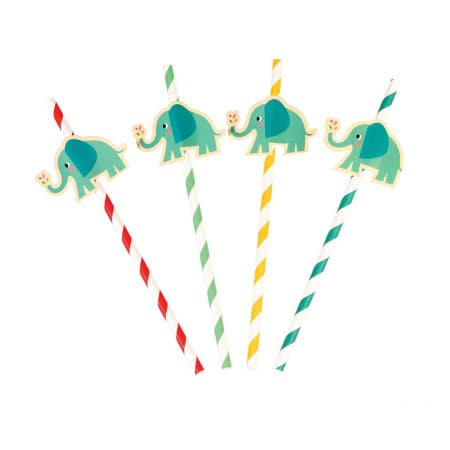 Elvis the Elephant Straws I Modern Baby Shower Tableware I My Dream Party Shop UK