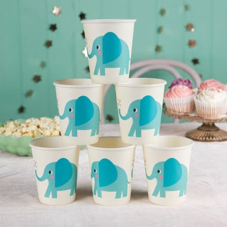 Elvis the Elephant Cups I First Birthday Tableware I My Dream Party Shop UK
