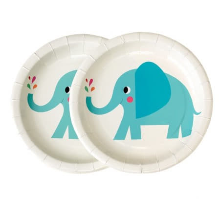 Elvis the Elephant Plates I First Birthday Tableware I My Dream Party Shop