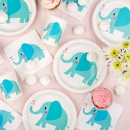 Elvis the Elephant Plates I First Birthday Party I My Dream Party Shop