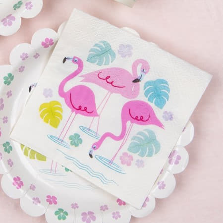 Flamingo Bay Napkins I Summer Party Supplies I My Dream Party Shop UK