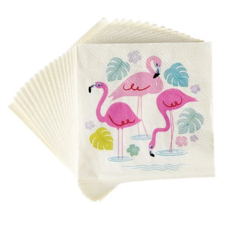 Flamingo Bay Napkins I Flamingo Party I My Dream Party Shop UK