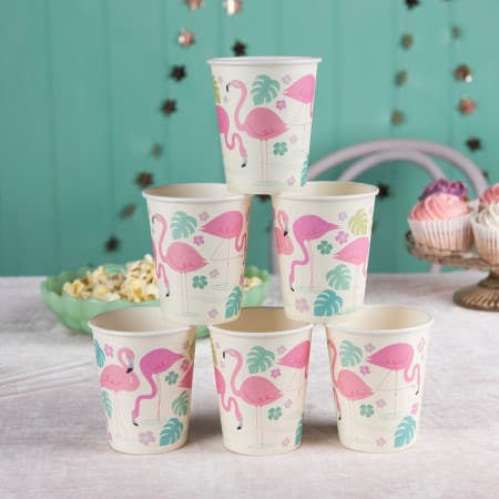 Flamingo Bay Cups I Summer Party Supplies I My Dream Party Shop UK