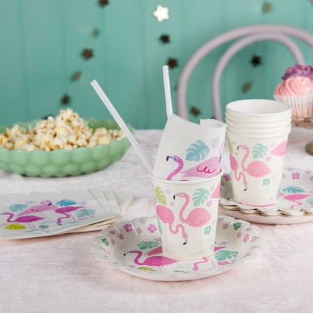 Flamingo Bay Cups I Tropical Party Supplies I My Dream Party Shop UK