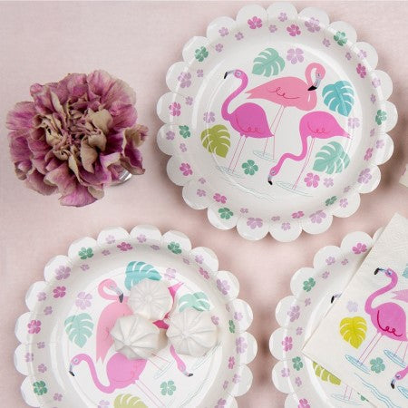 Flamingo Bay Plates I Flamingo Party Tableware I My Dream Party Shop UK