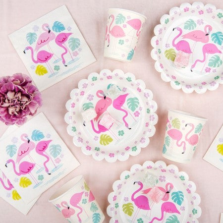 Flamingo Bay Plates I Tropical Party Supplies I My Dream Party Shop UK