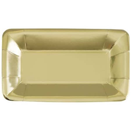 Metallic Gold Appetiser Plates I Modern Gold Party Tableware I My Dream Party Shop UK