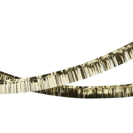 Gold Foiled Fringe Garland Decoration I Modern Gold Party Decorations I My Dream Party Shop UK