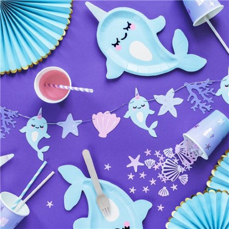Under the Sea Garland I Mermaid or Narwhal Party I My Dream Party Shop