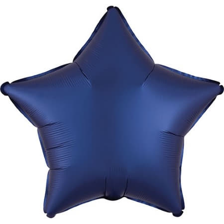 Satin Luxe Navy Blue Star Foil Balloon I Modern Party Balloons I My Dream Party Shop UK