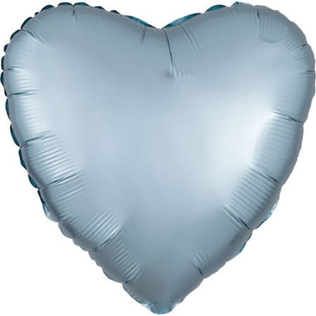 Satin Luxe Pastel Blue Heart Foil Balloon I Modern Party Balloons I My Dream Party Shop UK