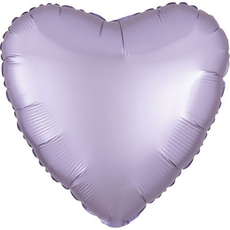 Satin Luxe Pastel Lilac Heart Foil Balloon I Modern Party Balloons I My Dream Party Shop UK