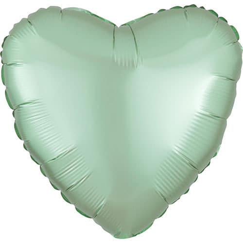 Satin Luxe Pastel Mint Green Heart Foil Balloon I Modern Party Balloons I My Dream Party Shop UK