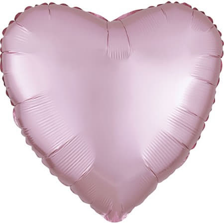 Satin Luxe Pastel Pink Heart Foil Balloon I Modern Party Balloons I My Dream Party Shop UK